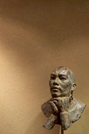 'Paro' 2015, h 33 x br 23 x d 19 cm, bronze
